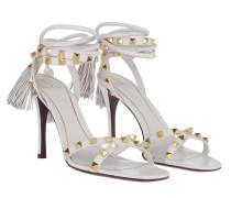 Sandalen Rockstud Flair Leather High Heels Bianco