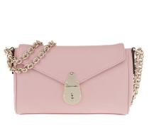 Satchel Bag Soft Lock Shoulderbag Silver Pink