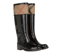 Boots & Booties - Rainboots Crosshill Housecheck Check Knee High Black