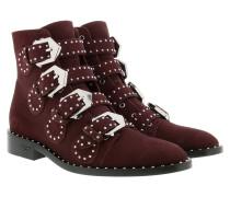 Elegant Studded Boots Oxblood Schuhe