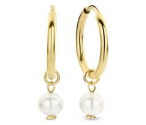 Ohrringe Belleville Luna 14 Karat Hoop Earrings With Freshw