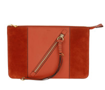 Plate Pochette Sepia Red Clutch rot