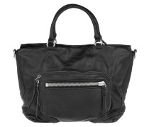 Tasche - Kumamoto Double Pocket Tote Small Ninja Black