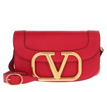 Umhängetasche Supervee Crossbody Bag Leather Rouge