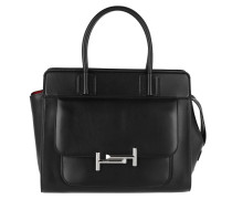 Mini Double T-Bag Black Tote