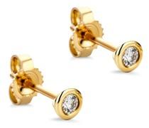 Ohrringe 14KT 0.1ct Diamond Stud Solitaire Earring