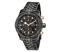 Uhr 45MmIp Black Case Chrono Mvt Dial Bracelet