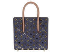 Paloma Small Denim Empire Studs Tote Bag Blue/Brique/Multimetal blau
