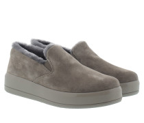 Mirror Slipper Suede Grey Schuhe