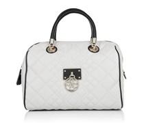 Guess Tasche - Aliza Box Satchel Almond Multi - in grau - Henkeltasche für Damen