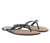 Meadow Flip Flop Sandal Lacque Black Sandalen schwarz