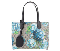 Reverse Double Shopping Bag Small GG Floral Blue