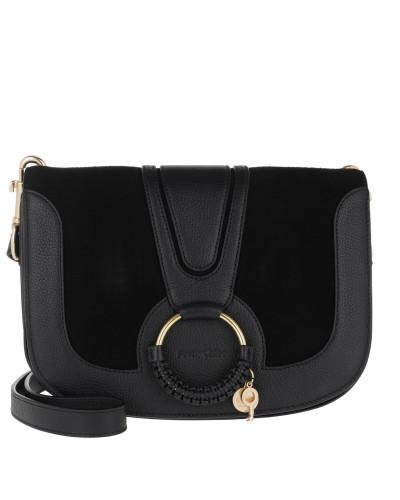 Umhängetasche Hana Crossbody Bag Leather Black schwarz