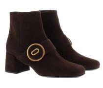 Calzature Donna Camoscio Booties Moro Schuhe