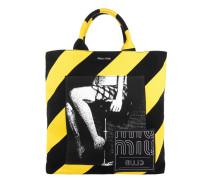 Tasche - Shopping Bag Print Nero + Giallo