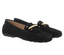 Caliana Suede Loafers Black