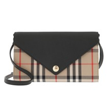 Umhängetasche Vintage Check Crossbody Leather Black