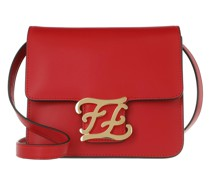 Umhängetasche Karligraphy Crossbody Bag Leather Red/Gold