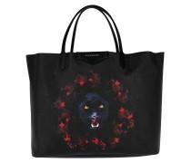 Jaguar Printed Antigona Shopping Bag Large Black/Red