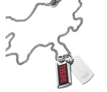 Halskette Stainless Steel Double Dog Tag Necklace Silver