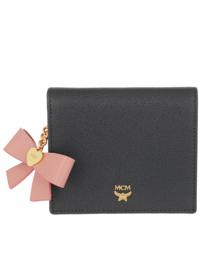 Portemonnaie Mina Bow Charm Flap Wallet Mini Phantom Grey grau