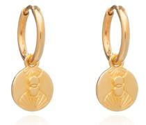 Ohrringe Luminary Art Coin Huggies Yellow Gold