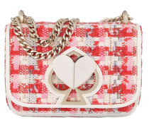 Umhängetasche Nicola Tweed Twistlock Chain Crossbody Bag Pink Multi