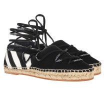 Espadrilles Diag Canvas White/Black