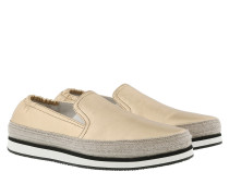 Slip On Nappa Silk Sneakers Platino Schuhe