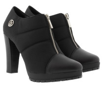 Boots & Booties - Woven Ankle Bootie Black