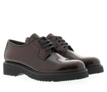 Loafers & Slippers - Chunky Oxford Lace-Up Slipper Garnet