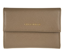 Kleinleder - Metallic Saffiano Leather Wallet Taupe