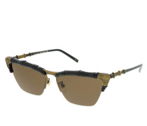 Sonnenbrille GG0660S-001 58 Sunglasses Black-Black-Brown
