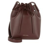 Mini Bucket Bag Burgundy Beuteltasche rot