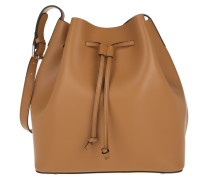 Tasche - Carmen Calf Leather Bucket Bag Cuoio/Orange