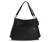 Tote Polished Pebble Leather Dalton Shoulder Bag Black