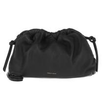 Umhängetasche Mini Cloud Clutch Leather Black