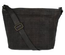 Shoulder Bag Thin Woven Grigio Umhängetasche braun