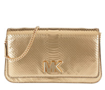 Mott Large Embossed Clutch Pale