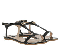 Flat Patent Sandal Nero Sandalen