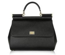 Tasche - Vitello Stampa Handbag Black
