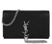 Kate Chain Tassel Wallet Black/Silver