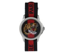 G Timeless Nastro Tigre Blue/Red Armbanduhr rot