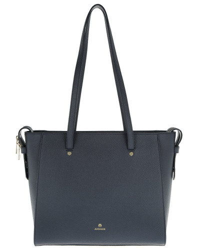 Aigner Damen Ivy Shopping Bag L Marine Tasche