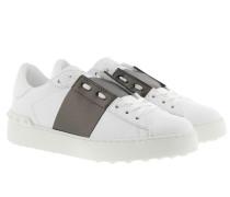 Bicolor Rockstud Sneakers White/Rutenio Sneakers weiß