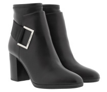 Ettore Ankle Boot Black Schuhe silber