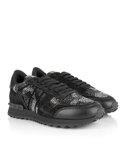 valentino damen valentino sneakers rockrunner glitter sneaker multi black white in schwarz. Black Bedroom Furniture Sets. Home Design Ideas