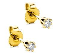 Ohrringe 0.12ct Diamond Stud Solitaire Earring
