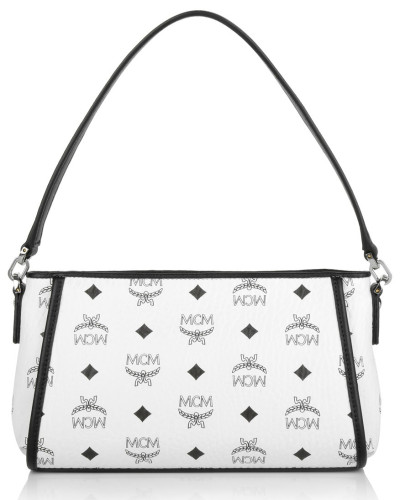mcm damen mcm tasche visetos crossbody bag small white. Black Bedroom Furniture Sets. Home Design Ideas