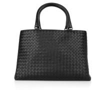 Tasche - Milano Leather Tote Ardoise Con Maniglia Corta Ottone